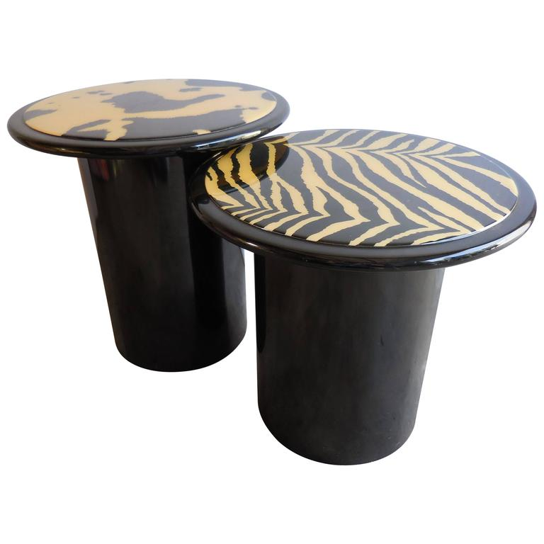 1960s Modern Lacquered Tables 1