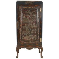 Mother of Pearl Inlaid and Lacquer Cabinet, Antique Chinese Export