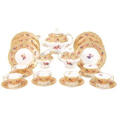Copeland Spode for Tiffany Dessert & Tea Set for 12 Floral Japonesque Service