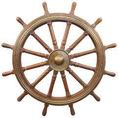 12-Spoke Varnished Ship's Wheel