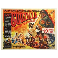"""""""Godzilla, King Of The Monsters"""" Film Poster, 1956"""