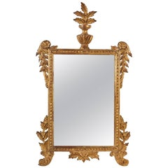 18th Century Carved French Regency Gilt Mirror
