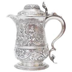 18th Century Silver Tankard William Caldecott, 1765