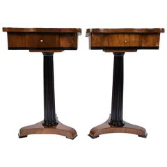 Pair of Empire-Style End Tables