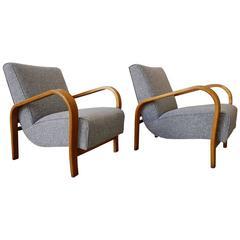 Set of Two Jindrich Halabala Lounge Chairs, 1930
