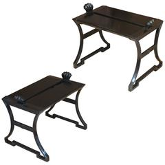 "Pair of the ""Number 2"" Bench in Iron Designed by Folke Bensow for Näfveqvarns"
