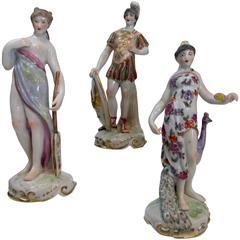 Group of Three Late 19th Century Samson of Paris Porcelain Figures