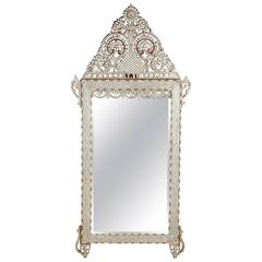Large 20th Century Syrian Mother-of-Pearl Inlaid Mirror