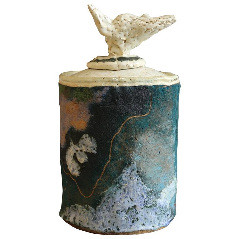 Jerry Rothman Lidded Ceramic Vessel