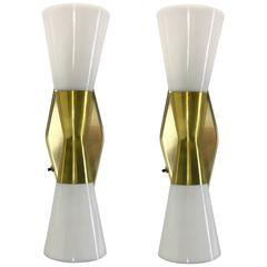 Vintage Pair of Wall Bow Tie Sconces by Virden Lighting