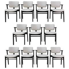 Set of Eleven Domus Armchairs by Ilmari Tapiovaara for Knoll, circa 1950