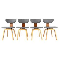 Set of Four Rare SB37 Dining Chairs by Cees Braakman for Pastoe