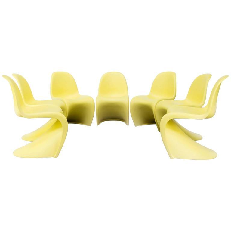 Verner Panton Chairs U0027Pantonu0027 For Vitra Set Of Seven ...