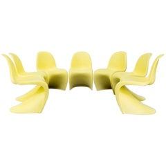 Verner Panton Chairs 'Panton' for Vitra Set of Seven
