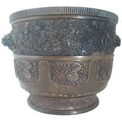 19th Century Large Chinese Bronze Jardinière or Planter