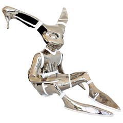 Steel Rabbit Sculpture by Kim Simonsson, Finland, circa 2006