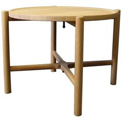 Side Table, Model PP35, in Soap Treated Oak by Hans J. Wegner and PP Furniture