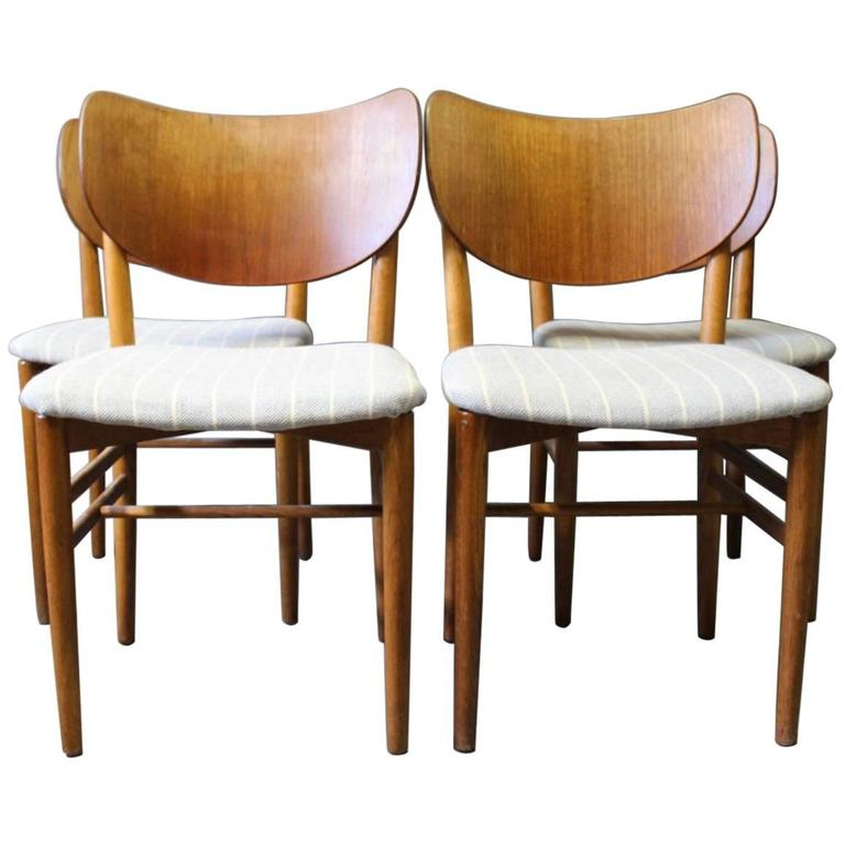 Set of Four Dining Room Chairs Designed by Nils and Eva Koppel, 1960s