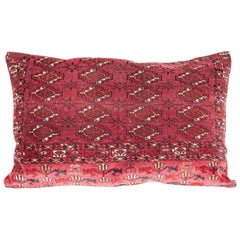 Antique Large Floor Pillow Made Out of a Turkmen Tekke Chuval