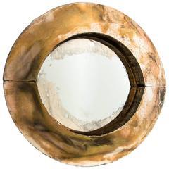 Irys Mirror Silver Copper Gold Glass Silvering Wall Sculpture Sabrina Landini