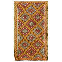 Dazzling Anatolian Kilim Rug