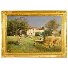 19th Century Landscape Painting Signed and Dated 1899