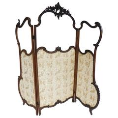 19th Century French Rococo Style Dressing Screen