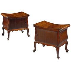 Pair of George III Mahogany Storage Stools