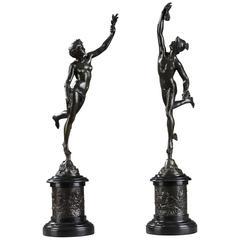 Ein Paar von Bronze Skulpturen nach Jean De Bologna Fortune and Mercury