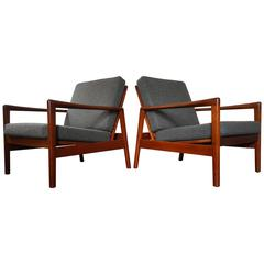Hans Olsen Lounge Chairs for Juul Kristensen, 1960s