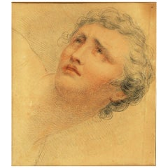 Giovanni Battista Cipriani Drawing of a Yong Man's Face