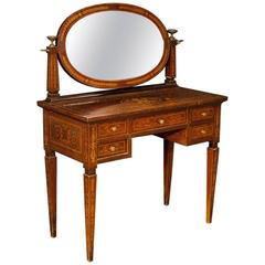 20th Century Inlaid Dressing Table in Louis XVI Style
