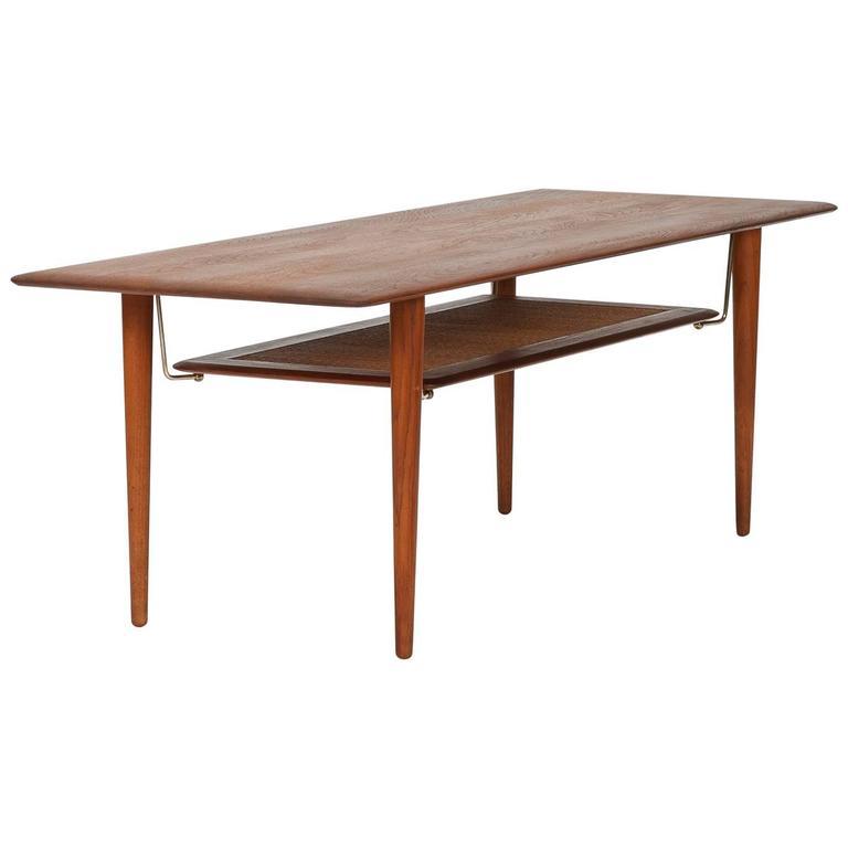 Peter Hvidt & Orla Mølgaard Nielsen Coffee Table FD 516 Teak France & Son 60