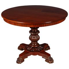 Late Biedermeier Mahogany Table Around the 19th Century