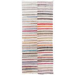 Colorful Cotton Pala Kilim, Flat-Weave Rug