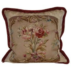 19th Century French Tapestry Made into Pillow