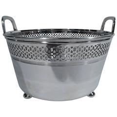 Tiffany Edwardian Pierced Sterling Silver Ice Bucket