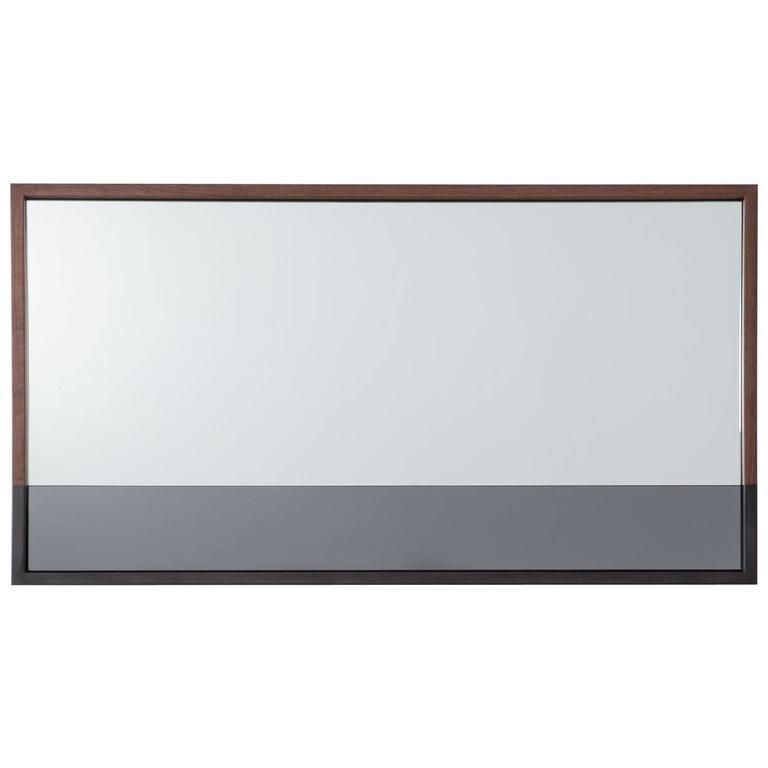 Landscape Waterline Mirror by Uhuru Design in Walnut and Hand-Blackened Steel