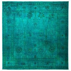 Solo Rugs, over Dyed Area Rug in Green