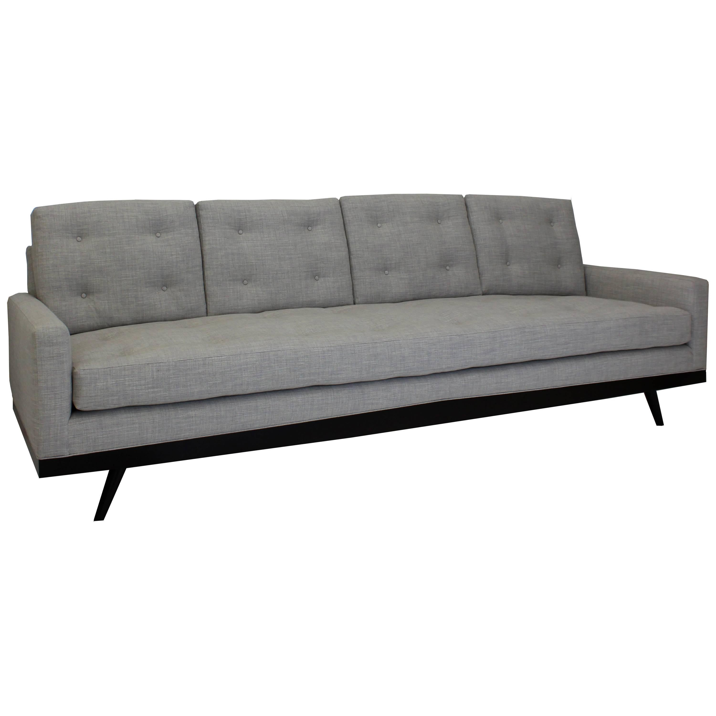 Mid-Century Modern Inspired Sofa With Button Tufting