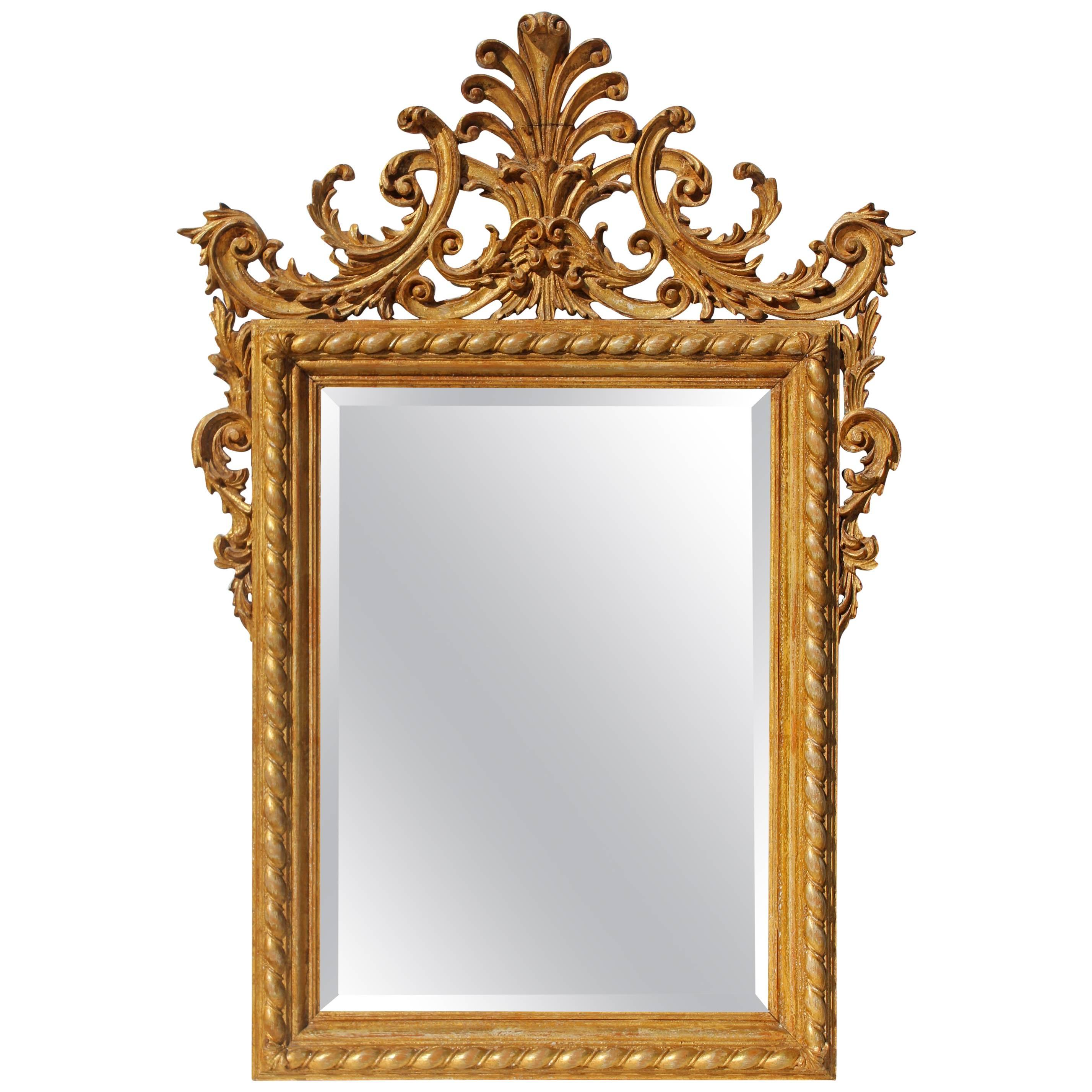 Italian Carved and Gilt Mirror