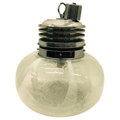 Mazzega Attributed Space Age Murano Glass Italian Pendant, circa 1965