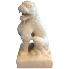 Ancient Chinese Tang Marble Lion Guardian, Tang Dynasty 618-907 AD