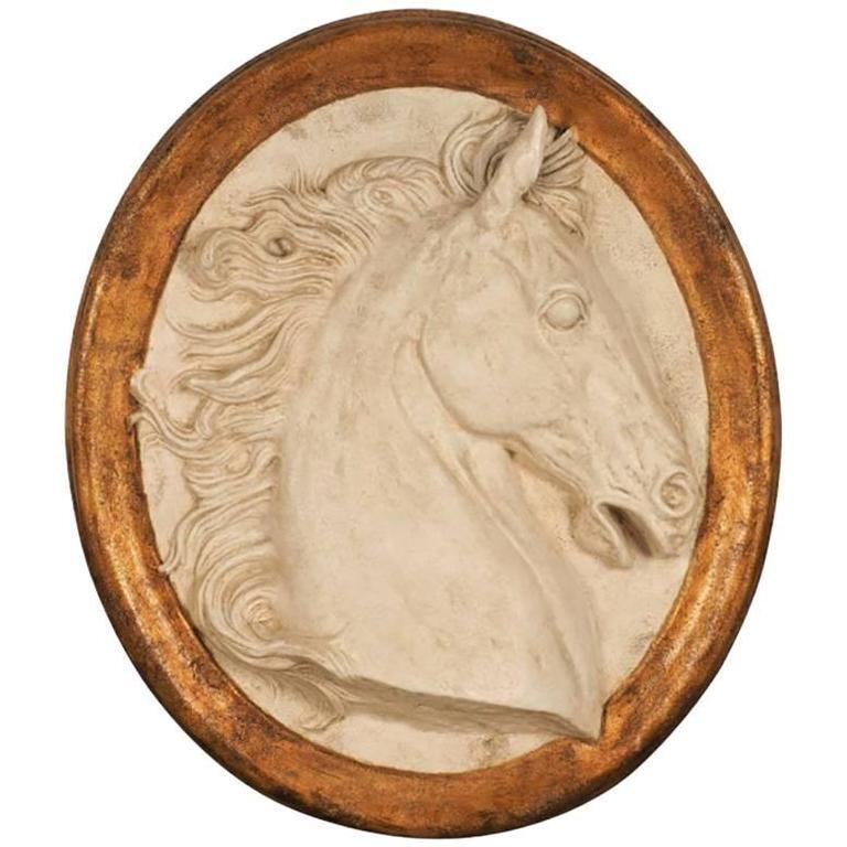 Impressive Paolo Marioni Ceramiche D'arte Relief Horse Plaque For Sale
