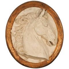 Impressive Paolo Marioni Ceramiche D'arte Relief Horse Plaque