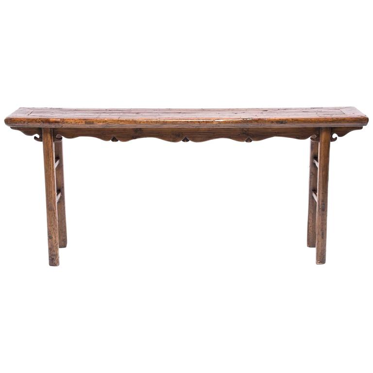 19th Century Chinese Provencal Arched and Cusped Table