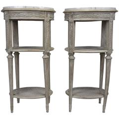 Pair of French Louis XVI-Style Nightstands