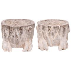 Pair of Chinese Petite Mythical Basins