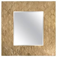 Large-Scale French Mid-Century Parquet Mirror