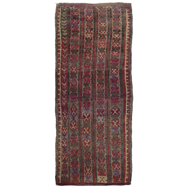Mid Century Modern Style Red Berber Moroccan Rug With: Mid-Century Modern Vintage Berber Moroccan Rug, Gallery